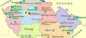 Туры в Чехию. Карта