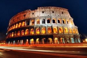 Колизей в огне, Рим