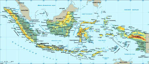 Туры в Индонезию. Карта Индонезии