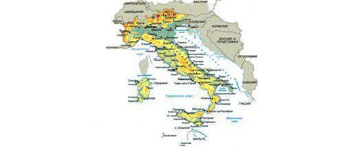 Туры в Италию. Карта Италии