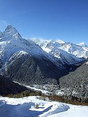 Горы. Домбай
