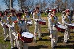 Выступление барабанщиков. Пасха в Старочеркасской 2011