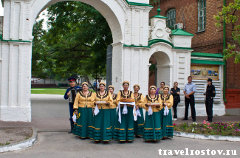 Встреча гостей в ст. Старочеркасской